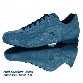 Schizzo Tacco Sneakers Camoscio Glitter Jeans | SznkCGJx1p8