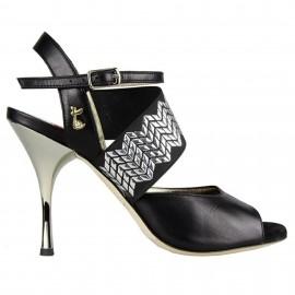 Tangolera E01 Elastic Dark Heel Black T9 | TBE01DH-bkx9
