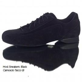 Schizzo Tacco Sneakers Camoscio Nero