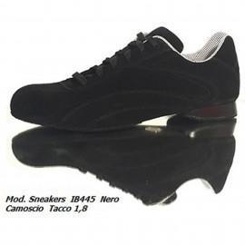 Schizzo Tacco Sneakers Camoscio Nero IB445