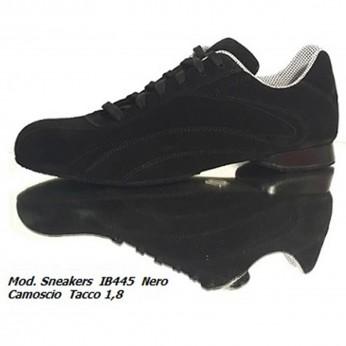 Schizzo Tacco Sneakers Camoscio Nero IB445   SznkCIB445bckx1p8