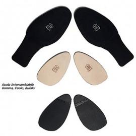 Schizzo Tacco Sneakers Camoscio Nero IB445 | SznkCIB445bckx1p8