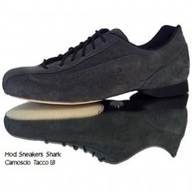 Schizzo Tacco Sneakers Camoscio Shark
