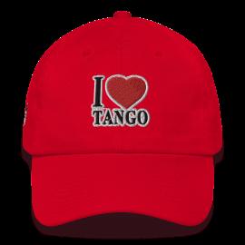 "Tangonaut XtroNerd ""I Love Tango"" embroidery Bayside Cotton Cap"