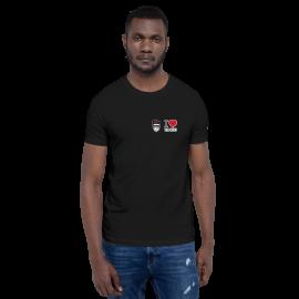 "Tangonaut XtroNerd ""I Love Pugliese"" Short-Sleeve Unisex B+C 3001 T-Shirt"