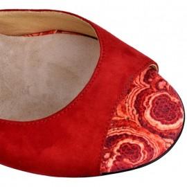 Tangolera Camoscio Rosso Fiori T9 | TBA1CL-rfx9