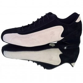 Schizzo Tacco Sneakers Camoscio Nero/Bianco | SznkCbwx1p8
