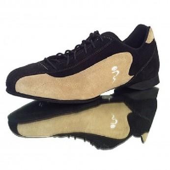Schizzo Tacco Sneakers Camoscio Nero/Beige   SznkCbbjx1p8