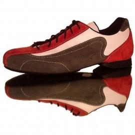 Schizzo Tacco Sneakers Camoscio/Cordura Brown/Red/BGR | SznkCCbgrx1p8