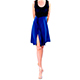 RossaSpina Gio 1 - Women's Dress Model RSGO1-blubcktp-SM, Blue/Black combo dress