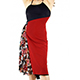 RossaSpina Abito Fantasia #8 - Women's Dress Model RSFO8-bckrdflw-SM, Black/Red combo dress with flowers
