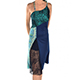 RossaSpina Fantasia 4 - Women's Dress Model RSFO4-blubcklace-SM, Blue/Black combo dress with lace fantasy