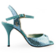 Tangolera Pitoncino Oceano - Italian Women's Shoes model TBPO-blupx8 sandals, Glam Friendly Collection, nappa python-printed pattern in 'mirror' electric blue, Heel 8