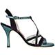 Tangolera Notturno Viola - Italian Women Shoes model TBA11-nvx9,  Turquoise Fabric on Napa Leather, Heel 9