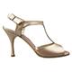 Tangolera Phard - Italian Women Shoes model TBA12-phdx9, phard pale bronze nappa T-strap sandals in Heel 9
