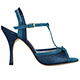 Tangolera Glitter Ottanio / Camoscio Turchese - Italian Women Shoes model A14gc-ottqx9,  Teal (Petrol-Green) - Turquoise glitter/suede combo,  Heel 9