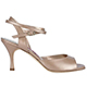 Tangolera A1CL Desert T7 Italian Women's Shoes - Model TBA1CL-dstx7, Tan (beige) soft Nappa Sandals, with a 'Pearl' shade coloring, on Heel 7 (also available in Heel 9)