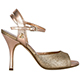 Tangolera Glitter Rame Laminato Rosa - Italian Women Shoes model TBA2gl-grsx9,  Platinum Glitter and Pale Pink Straps and  Heel 9