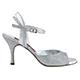 Tangolera New Glitter Argento - Italian Women Shoes model TBA2n-agx7, Silver micro-Glitter,  Heel 7 (also available in HEEL 9)