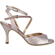 Tangolera Bijoux - Italian Women's Shoes model TBA23-bnzx7, Bronze pattern napa, double strap sandals, Heel 7