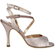 Tangolera Bijoux - Italian Women's Shoes model TBA23-bnzx9, Bronze pattern napa, double strap sandals, Heel 9