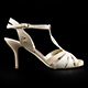 Tangolera Nappa Skin Cangiante - Italian Women's Shoes Model TBA32nsk-bjcgx7, Nude Pearl Beige Nappa/Suede combo, T-strap sandals, Double padding insoles, Heel 7 (also available HEEL 9)