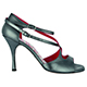Tangolera Perlato Nero - Italian Women Shoes model TBA4b-bkx9, (Black Pearl) Dark Gray Shiny Napa Leather, Heel 9