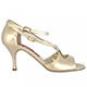 Tangolera Perlato Platino - Italian Women Shoes model A4b, nappa painted platinum, heel 7