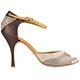 Tangolera Vernice Caffelatte / Pizzo Beige / Glitterino Bronzo - Italian Women Shoes model TBA8e-VPzGltx9, heel 9