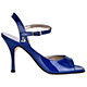Tangolera Vernice Blu - Italian Women Shoes model TBA9bVr-blx9, laquered (patent leather) in blue, heel 9