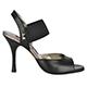 Tangolera Elastic Nappa Black - Italian Women Shoes model TBE01n-bkx9, Black Napa Leather, Heel 9