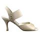 Tangolera Nappa Nudo - Italian Women Shoes model TBE01n-ndx9, Nude Napa Leather, Striped Rame (borders), Heel 7