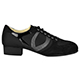 Tangolera Sneakers SWS Woman's Sport Nera - Italian Women's Shoes Model TGL-SNK-SWS-bkx4, Black mesh with black suede combo, from the Tangolera Low Heels Woman's Practica Sneakers Collection (with 4cm heels)